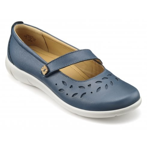 River Wide Fit Leather Flat Mary Jane