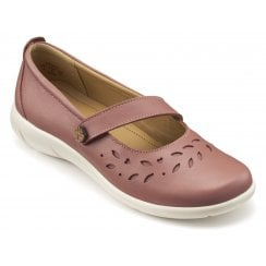 Peace Salmon Std Fit Leather Flat Mary Jane Style Shoe