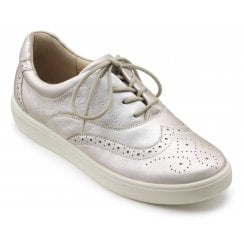 Piper Iridescent Std Fit Leather Flat Brogue Style Shoe