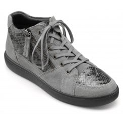 Rapid Grey Std Fit Suede/Leather Flat Lace Up Boot