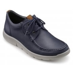 Reflex Navy Std Fit Leather Moccasin Style Shoe