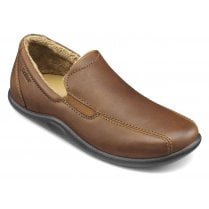 Relax Std Fit Dark tan Leather Slipper