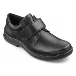 Sedgwick Std Fit Black Leather Velcro Fasten Shoe