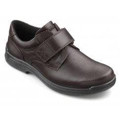 Sedgwick Std Fit Dark Brown Leather Velcro Fasten Shoe