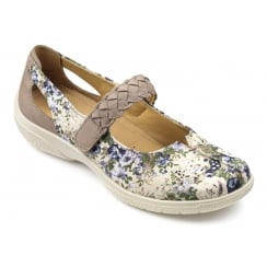 Shake Cream Floral Wide Fit Shoe