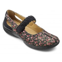 Shake Navy floral Wide Fit Shoe