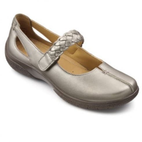 Hotter Shake Nickel Metallic Wide Fit Shoe