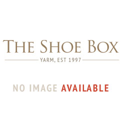 Hotter Shake Wide Fit Navy Leather Flat Mary Jane Style Shoe