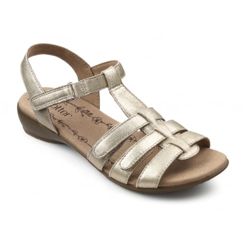 Hotter Sol Soft Gold Leather Std Fit Sandal
