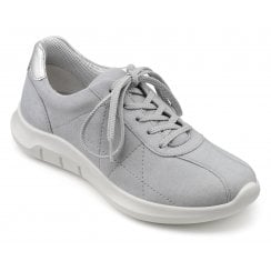 Solar Pebble Grey Std Fit Laced Trainer Style Shoe