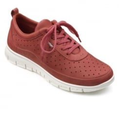 Spice nubuck leather flat lace up trainer style shoe