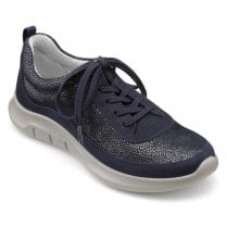 Star Navy Multi Std Fit Nubuck/Suede Trainer Style Shoe