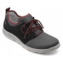 Strike Black Multi Std Fit Lace Up Trainer Style Shoe