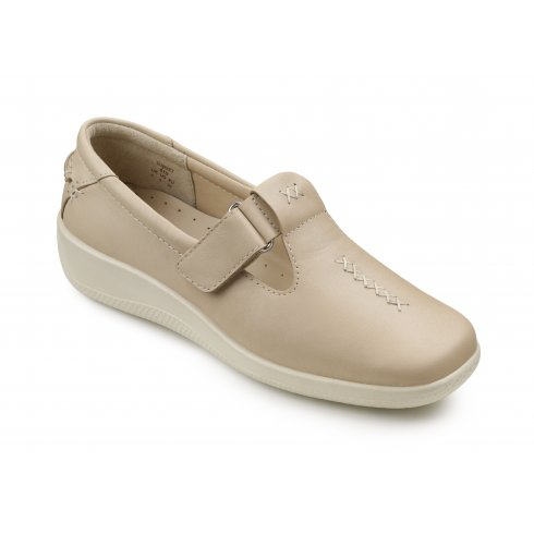 Hotter Sunset Wide Fit - Beige Leather