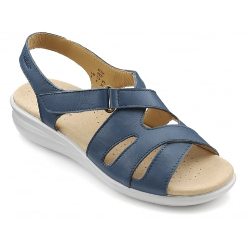 Hotter Susa Blue River Leather Flat Slingback Sandal
