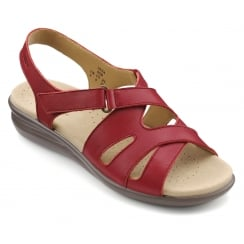 Susa Tango Red Leather Flat Slingback Sandal