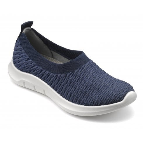 Hotter Swift Std Fit Navy Flat Trainer Style Shoe