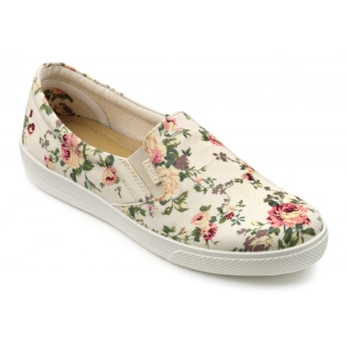 Hotter Tara Beige Floral Std Fit Shoe