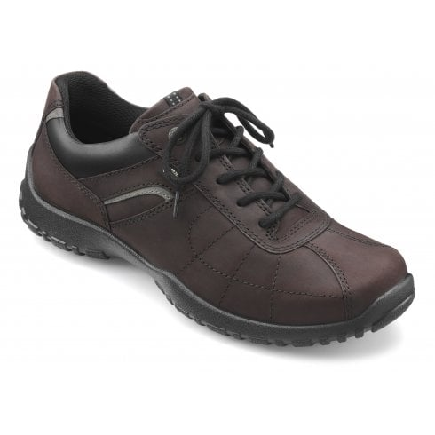 Hotter Thor Std Fit Chocolate Gore-Tex Waxed Nubuck Lace Up Shoe