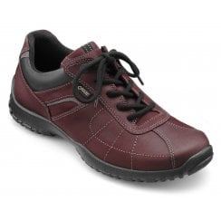 Thor Std Fit Maroon Gore-Tex Waxed Nubuck Flat Lace Up Shoe