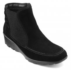Tilly Std Fit Black Suede Ankle Boot