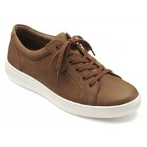 Tobago Std Fit Dark Tan Waxed Nubuck Lace Up Casual Shoe