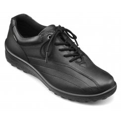 Tone Std Fit Black Gore-Tex Leather Flat Lace Up Shoe