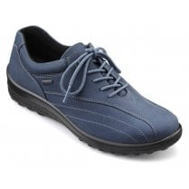 Hotter Tone Std Fit Blue River Gore-Tex Nubuck Flat Lace Up Shoe
