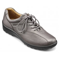 Tone Std Fit Gunmetal Leather Flat Lace Up Shoe