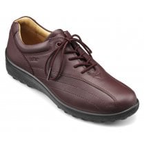Tone Wide Fit Maroon Leather Flat Lace Up Shoe