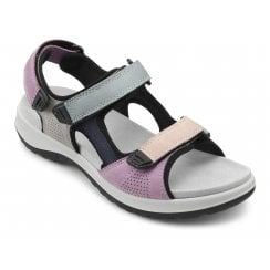 Travel Pastel Std Fit Flat Twin Velcro Sandal