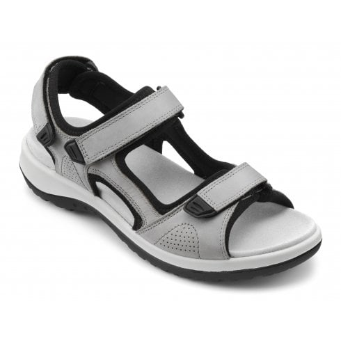 Hotter Travel Pebble Grey Wide Fit Flat