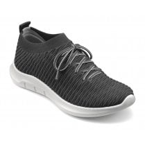 Twist Std Fit Gunmetal Flat Trainer Style Shoe