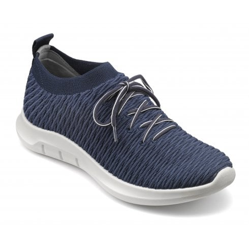 Hotter Twist Std Fit Navy Flat Trainer Style Shoe