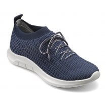Twist Std Fit Navy Flat Trainer Style Shoe