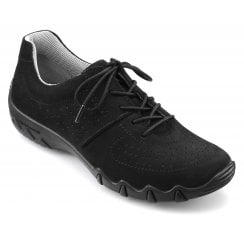 Vault Std Fit Black Nubuck Flat Trainer Style Shoe