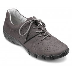Vault Std Fit Gunmetal Nubuck Flat Trainer Style Shoe
