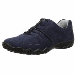 Vault Std Fit Navy Nubuck Flat Trainer Style Shoe