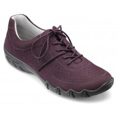 Vault Std Fit Plum Nubuck Flat Trainer Style Shoe