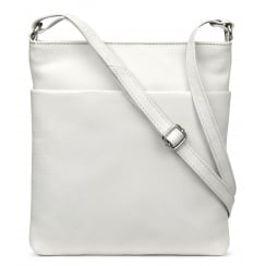 Verne Ivory Cross-body Leather Bag