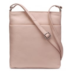 Verne Powder Pink Cross-body Leather Bag