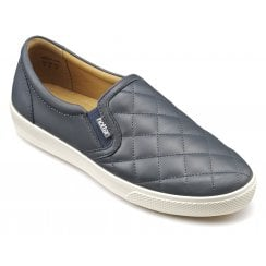 Violet Std Fit Indigo Quilted Leather Slip On Shoe