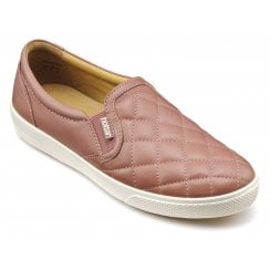 Violet Std Fit Salmon Quilted Leather Slip On Shoe