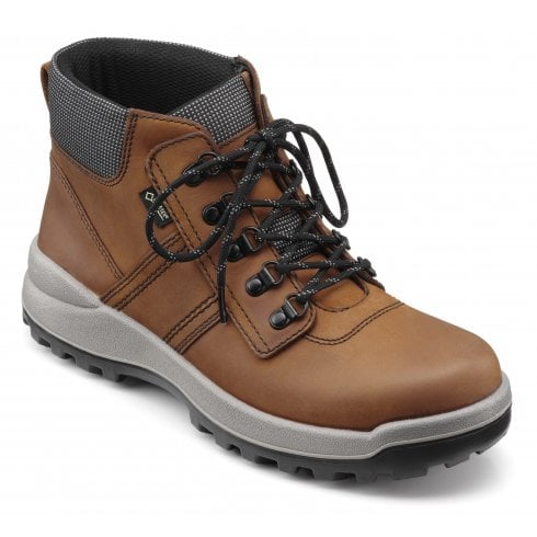 Hotter Vulcan Dark Tan Std Fit Waxed Nubuck Gore-tex Lace Up Boot