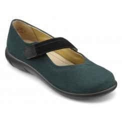 Wren Forest Green Std Fit Suede Flat Mary Jane Style Shoe