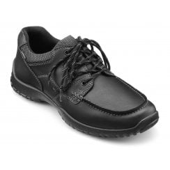 Zeus Black Std Fit Leather Gore-tex Lace Up Shoe