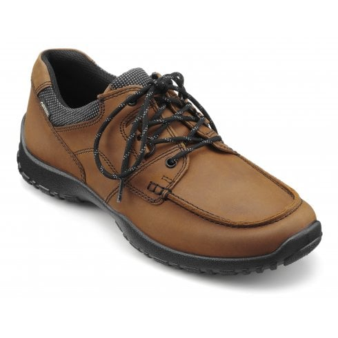 Hotter Zeus Dark Tan Std Fit Leather Gore-tex Lace Up Shoe