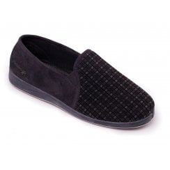 Albert Black Full Slipper