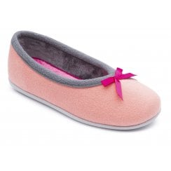 Alps Pink/Grey Ballerina Slipper