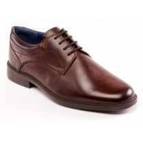 Bank Brown Leather Lace Up Shoe